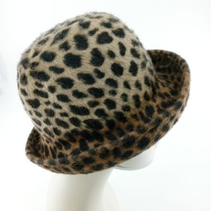 Eric Javits Plush Leopard Bowler Hat